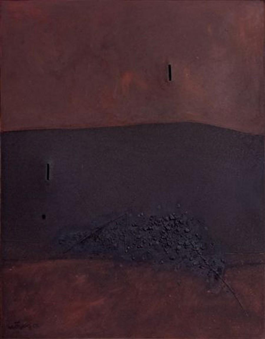 Triple espacio con sombra negra
