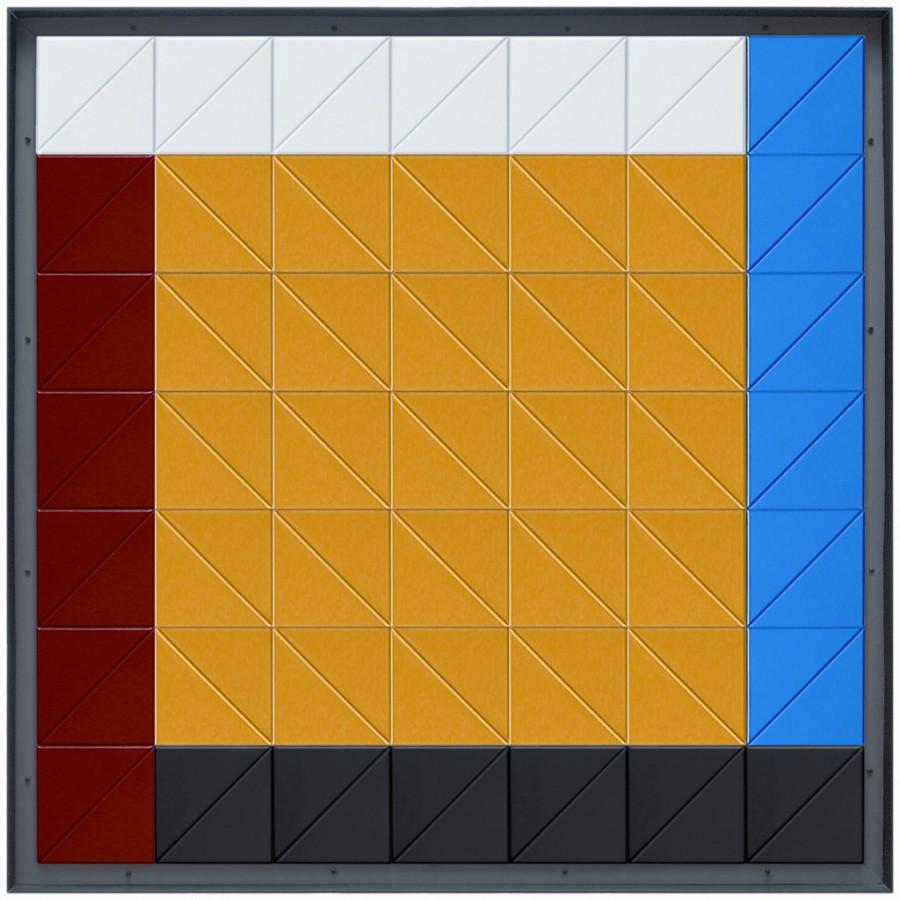 Cuatro vectores para un cuadrado amarillo, de  Luis Caruncho