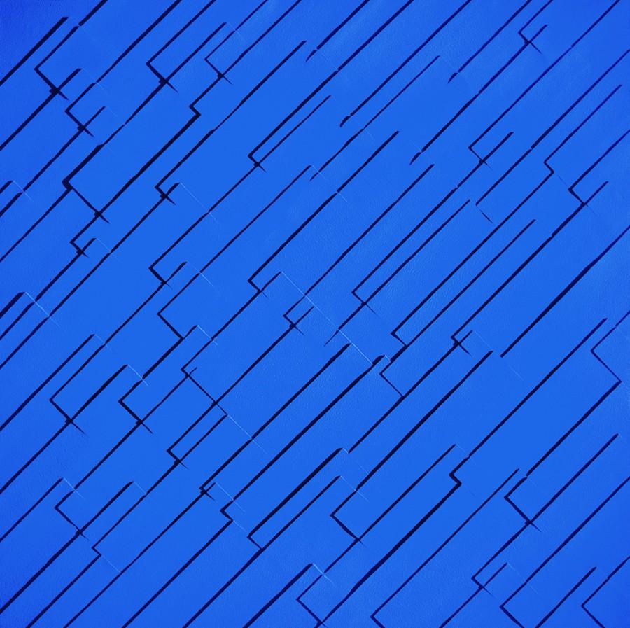 Azul sobre azul nº18 (lluvia oblícua)