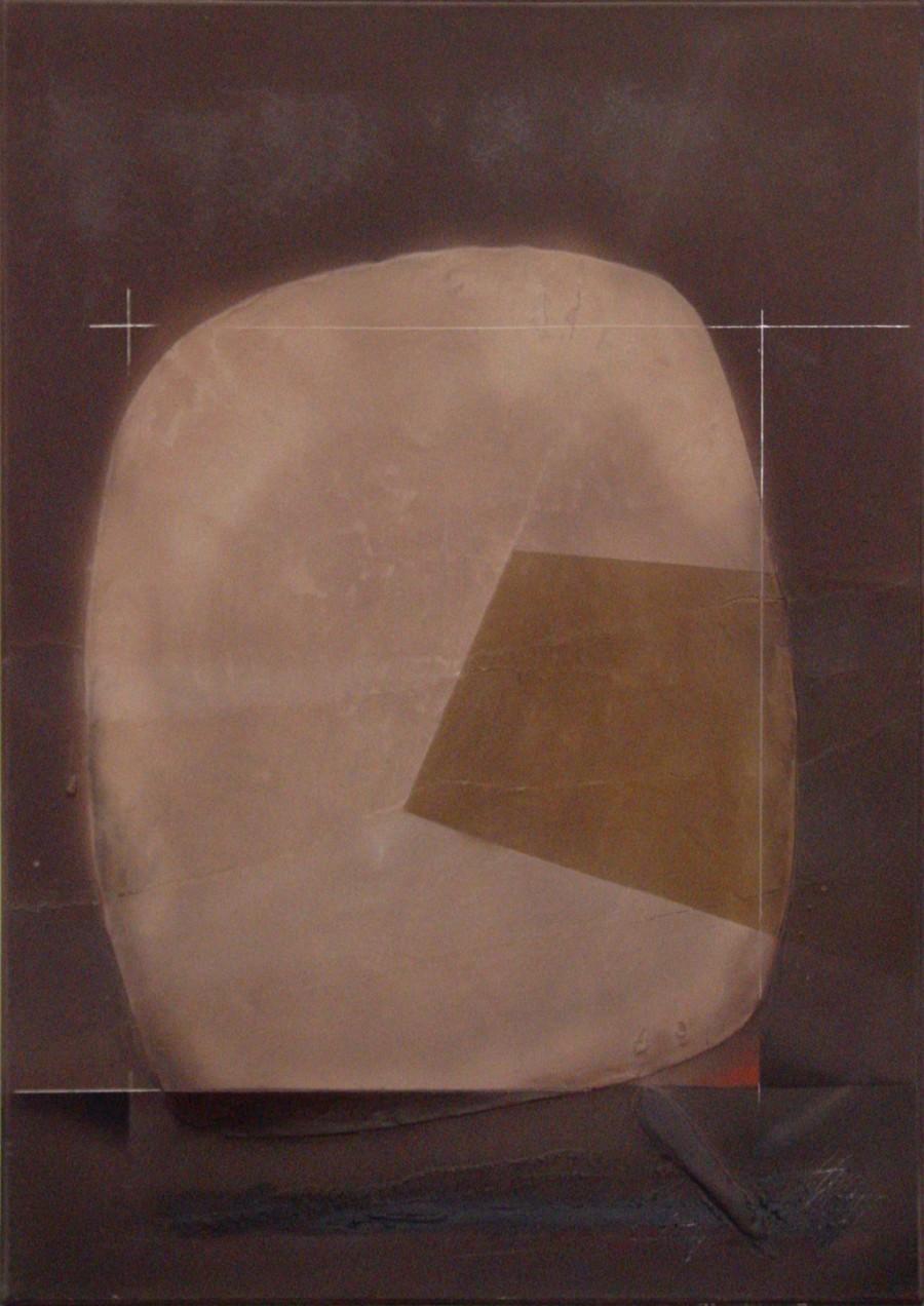 Espacio cromlech con relieve oblicuo, de  Leopoldo Nóvoa