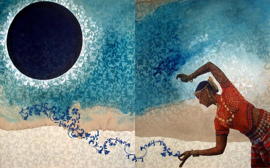 Eclipse lunar con arabescos, I