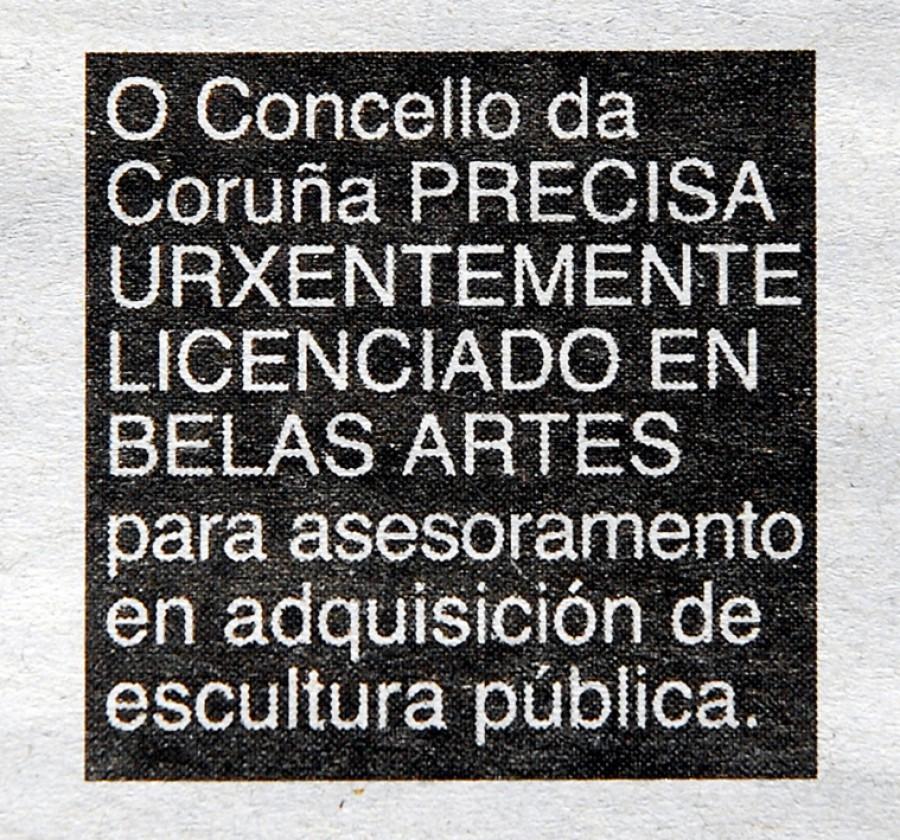 Anuncio (La Voz de Galicia, A Coruña, 2009)