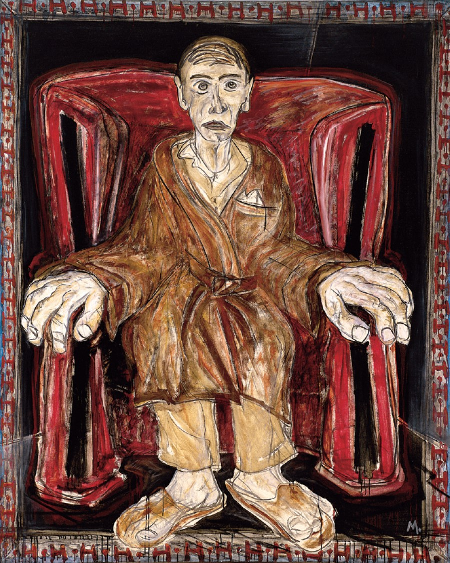 O Abó Gran Dida no sillón