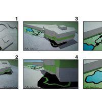 Estudios para Digital Garden, de  Antón Cabaleiro