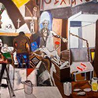 Cerrado por pinturas. Alfonso Abelenda + Correa Corredoira + Jaime Tenreiro