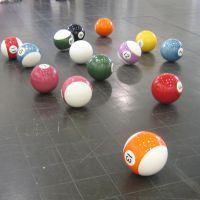 Bolas de billar (da serie Trabajos inútiles), de  Diego Santomé