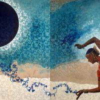 Eclipse lunar con arabescos, I, de  José Freixanes