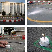 Escultura de rotonda / Celebración de cumpreanos, de  Enrique Lista