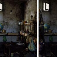 """Cambiando la luz de un espacio vestido de frac. Da serie """"Dípticos de lo mismo"""", de  Rubén Ramos Balsa"""