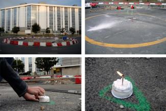 Escultura de rotonda / Celebración de cumpreanos